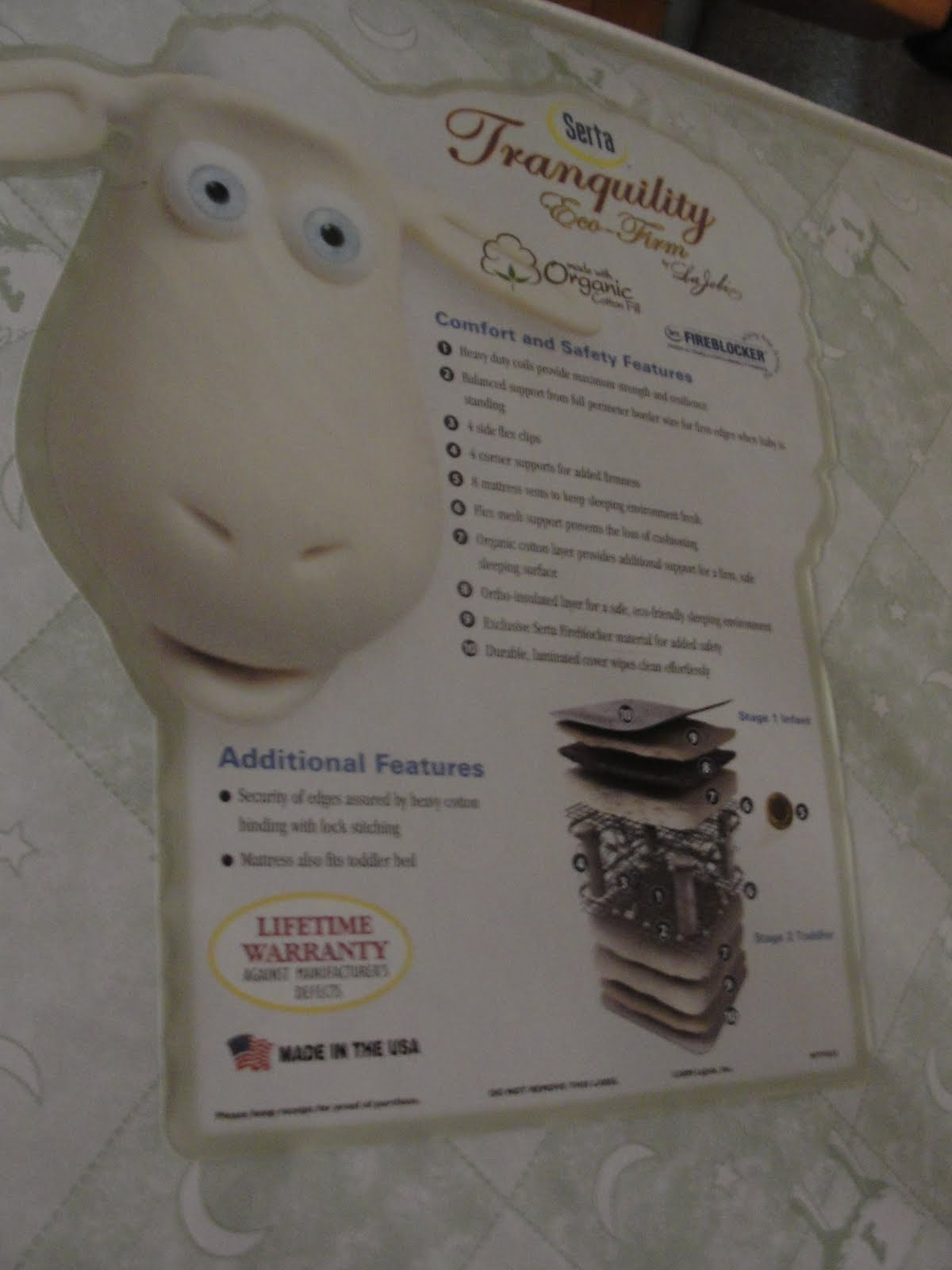 Serta Tranquility Mattress Serta Tranquility Eco – Firm Crib Mattress (Review and Giveaway ...